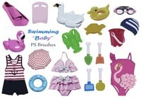 20 Baby Swimming PS Brushes abr Vol.4
