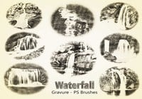 20 Waterfall PS Brushes abr. Vol.6