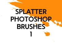 Splatter Photoshop Borstar 1