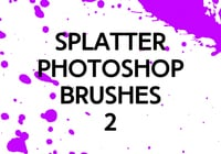 Brosses photoshop splatter 2