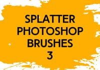 Brosses photoshop splatter 3