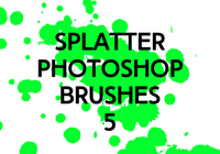 Splatter photoshop brushs 5