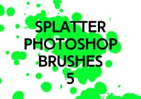 Splatter Photoshop Brushes 5