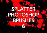 Splatter Photoshop Borstar 6