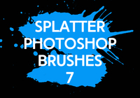 Splatter Photoshop Borstar 7