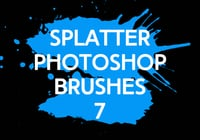 Brosses photoshop splatter 7