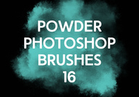 Poudre Photoshop Brushes 16