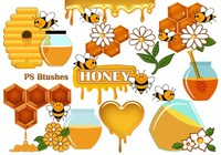20 Cute Honey PS Brushes abr. vol.9