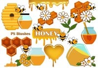 20 Cute Honey PS Pinceles abr. Vol.9