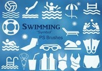 20 Swimming Symbol PS Brushes abr Vol.5