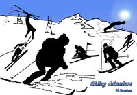 20 Skiing Adventure PS Brushes abr. Vol.14