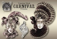 20 Carnival Mask PS Brushes abr.vol.9