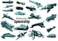 20 Spaceship PS Brushes abr. vol.7