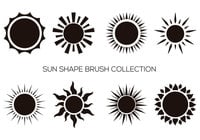 Sun Shape Brush Collection