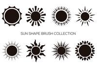 Sun-Form-Pinsel-Sammlung