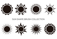 Sun Shape Brush Collection
