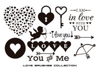 Assorted Love Brushes Collection