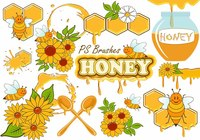20 Cute Honey PS Brushes abr. vol.10