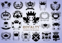 20 Royalty Emblem PS Brushes abr. Vol.3