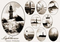 20 Gravure Lighthouse PS Brushes abr.Vol.7
