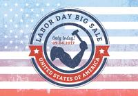 USA Labor Day Big Sale Grunge Rubber Stamp PSD