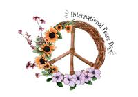 Vattenfärg International Peace Day PSD