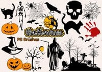 20 Halloween PS Brushes abr. Vol.11