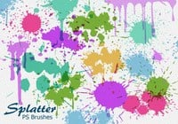 20 splatter ps brushes abr vol.6