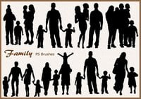 20 Family Silhouette PS Brushes abr.vol.3