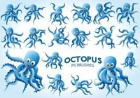 20 Schattige Octopus PS Borstels abr.Vol.9