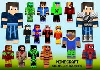 20 Minecraft Skin PS Brushes abr. Vol.18