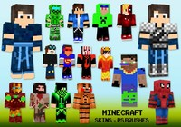 20 Minecraft Skin PS Bürsten abr. Vol. 18