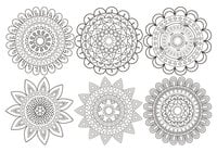 Leuke Mandala Flower Brush Collection