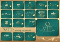 20 Vip Card PS Brushes abr. Vol.5