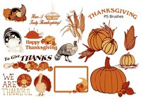 20 Thanksgiving PS Brushes abr. vol.6
