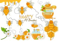 20 Cute Honey PS Brushes abr. vol.11