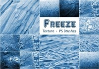 20 Freeze Texture PS Pinceles abr. Vol.10