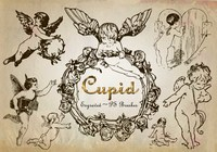 20 Engraved Cupid PS Brushes abr. Vol.6
