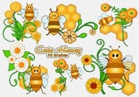 20 Cute Honey PS Brushes abr. vol.12