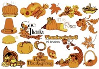 20 Thanksgiving PS Brushes abr. Vol.7