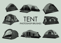 Gratis Tent Photoshop Borstels