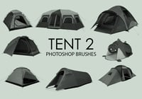 Free Tent Photoshop Brushes 2