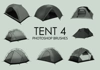 Free Tent Photoshop Brushes 4