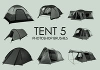 Free Tent Photoshop Brushes 5