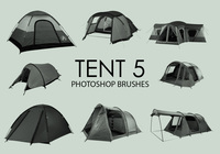 Gratis Tent Photoshop Borstels 5