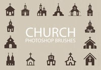 Gratis Church Silhouette Photoshop Borstels 1
