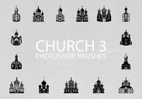 Free Church Silhouette Pinceles para Photoshop 3