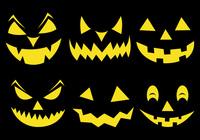 Spooky Halloween Pumpkin Face Brushes
