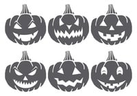 Spooky Halloween Kürbis Pinsel