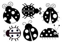 Cute Ladybug Brushes Collection
